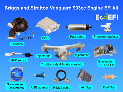 briggs and stratton 36hp vanguard 993cc engine efi kit