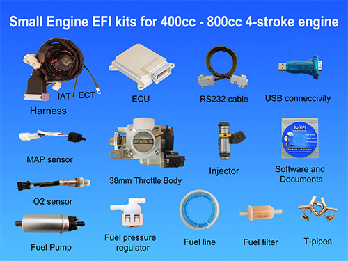 400cc to 800cc Small Engine fuel injection Kits