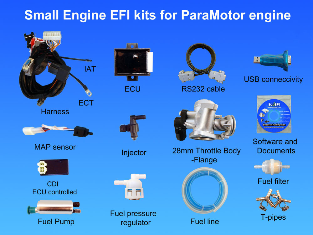Paramotor Engine Fuel Injection Kit 2 Stroke Engine Efi